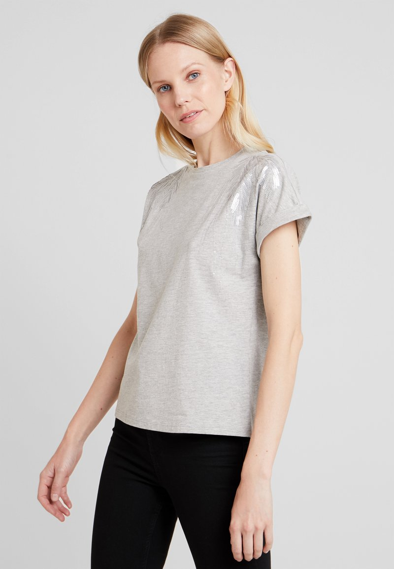 Anna Field - T-shirts med print - mottled grey