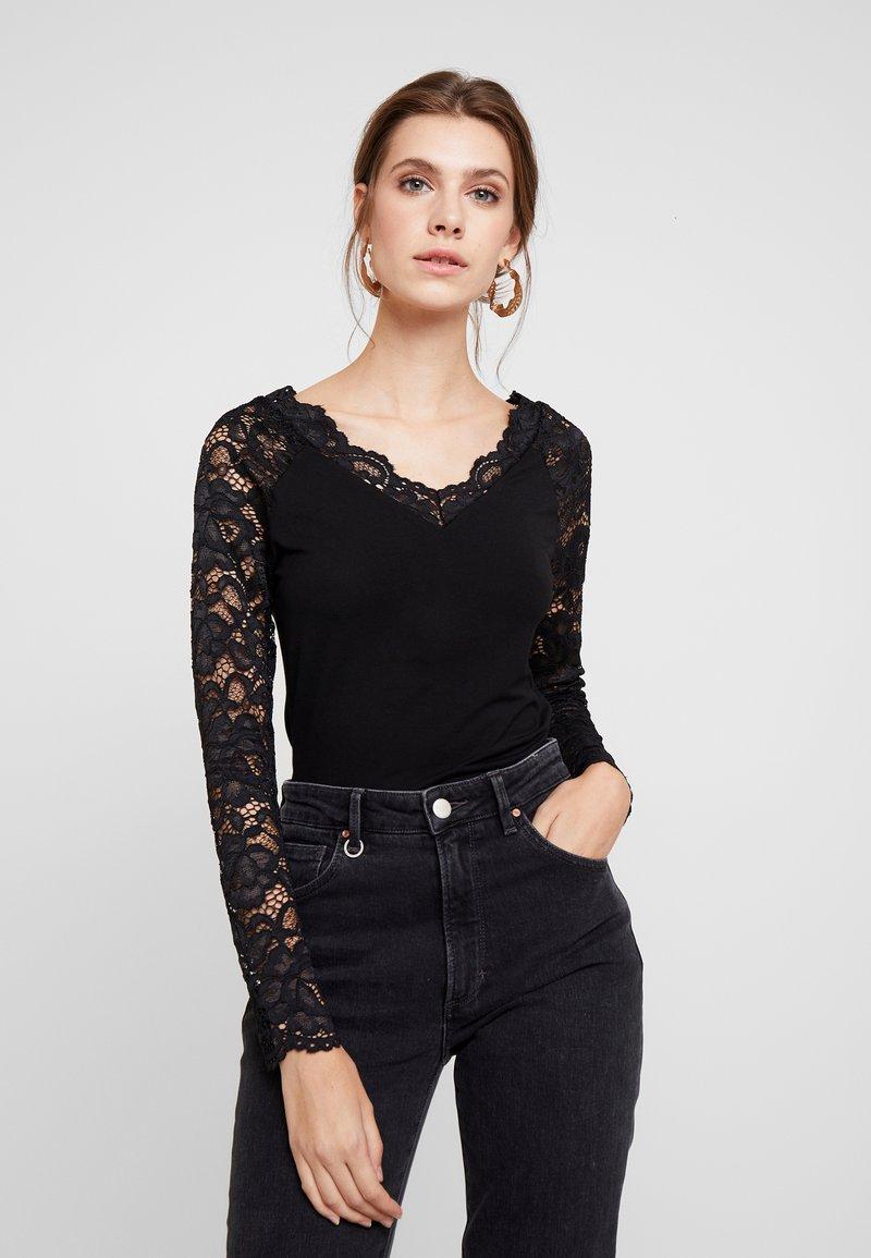 Anna Field - T-shirt à manches longues - black