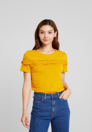 T-shirt print - golden yellow