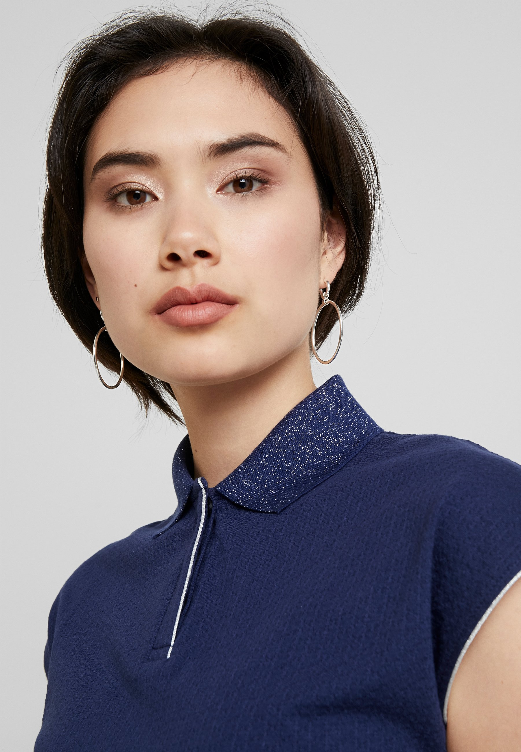 shirt Field Stampa Con T Anna Navy eH2YbWED9I