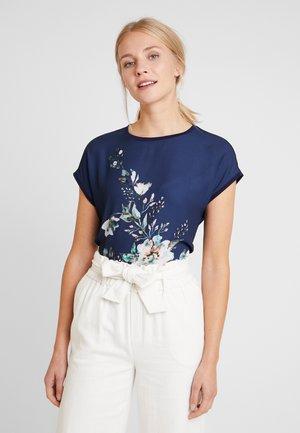 T-shirt print - dark blue/multicoloured