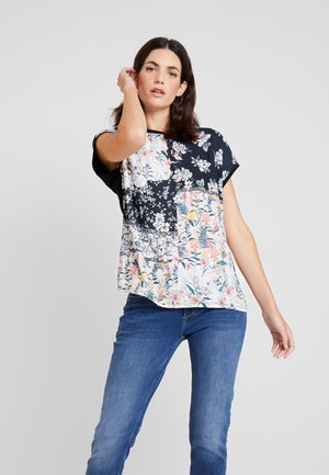 Camiseta estampada - black/multicoloured