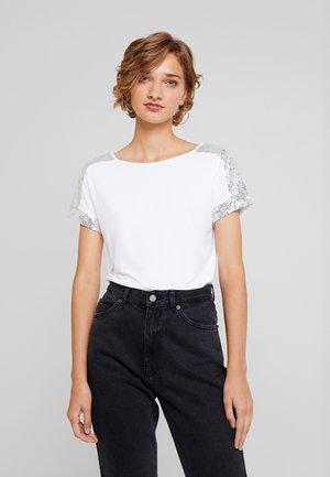 T-shirt à manches longues - white/silver
