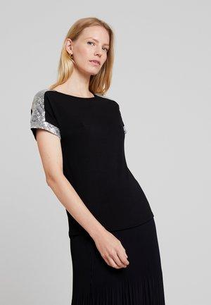 Bluzka z długim rękawem - silver/black