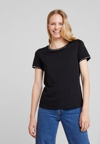 Anna Field - T-shirt imprimé - black - 0