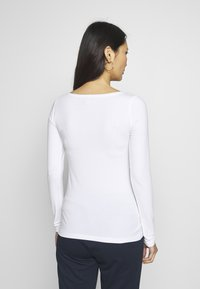 Anna Field - BASIC ROUND NECK LONG SLEEVES - Topper langermet - white - 2