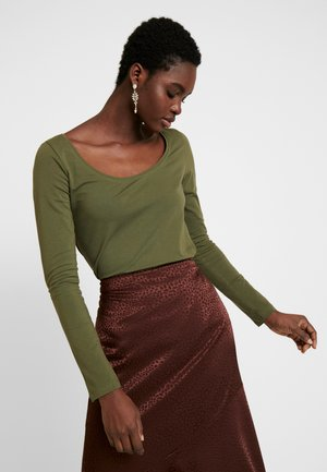BASIC ROUND NECK LONG SLEEVES - Long sleeved top -  khaki