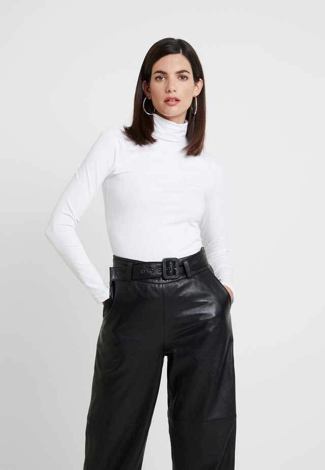 BASIC - Bluzka z długim rękawem - white