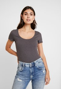 Anna Field - 3 PACK - T-shirt basic - white/black/dark grey - 2