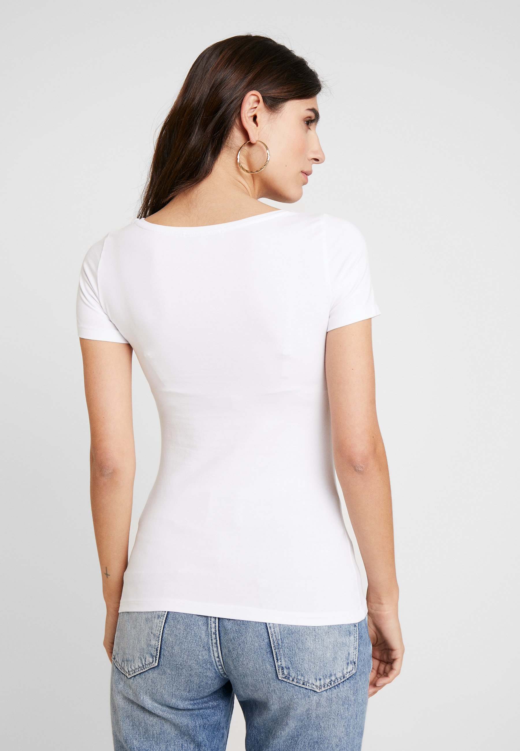 Anna Field 3 Pack - T-shirt Basique White/black/dark Grey