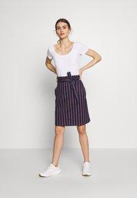 Anna Field - 3 PACK - T-shirt basic - white/navy/light grey melange - 1