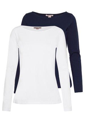 2 PACK - Bluzka z długim rękawem - maritime blue/white