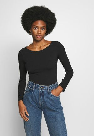 2 PACK - Bluzka z długim rękawem - black/bruschetta