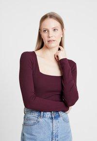 Anna Field - BASIC - Top sdlouhým rukávem - winetasting - 0