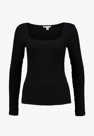 BASIC - Top sdlouhým rukávem - black