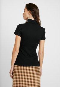 Anna Field - BASIC - T-shirt z nadrukiem - black - 2