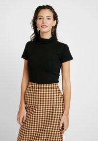 Anna Field - BASIC - T-shirt z nadrukiem - black - 0