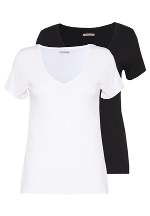 2 PACK - T-shirt basic - white/black