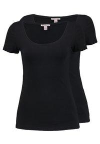 Anna Field - 2 PACK  - Basic T-shirt - black - 0