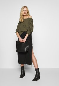 Anna Field - DROP SHOULDER LONG SLEEVES - Top s dlouhým rukávem - olive night - 1