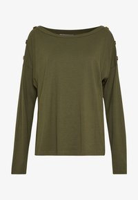Anna Field - DROP SHOULDER LONG SLEEVES - Top s dlouhým rukávem - olive night - 3