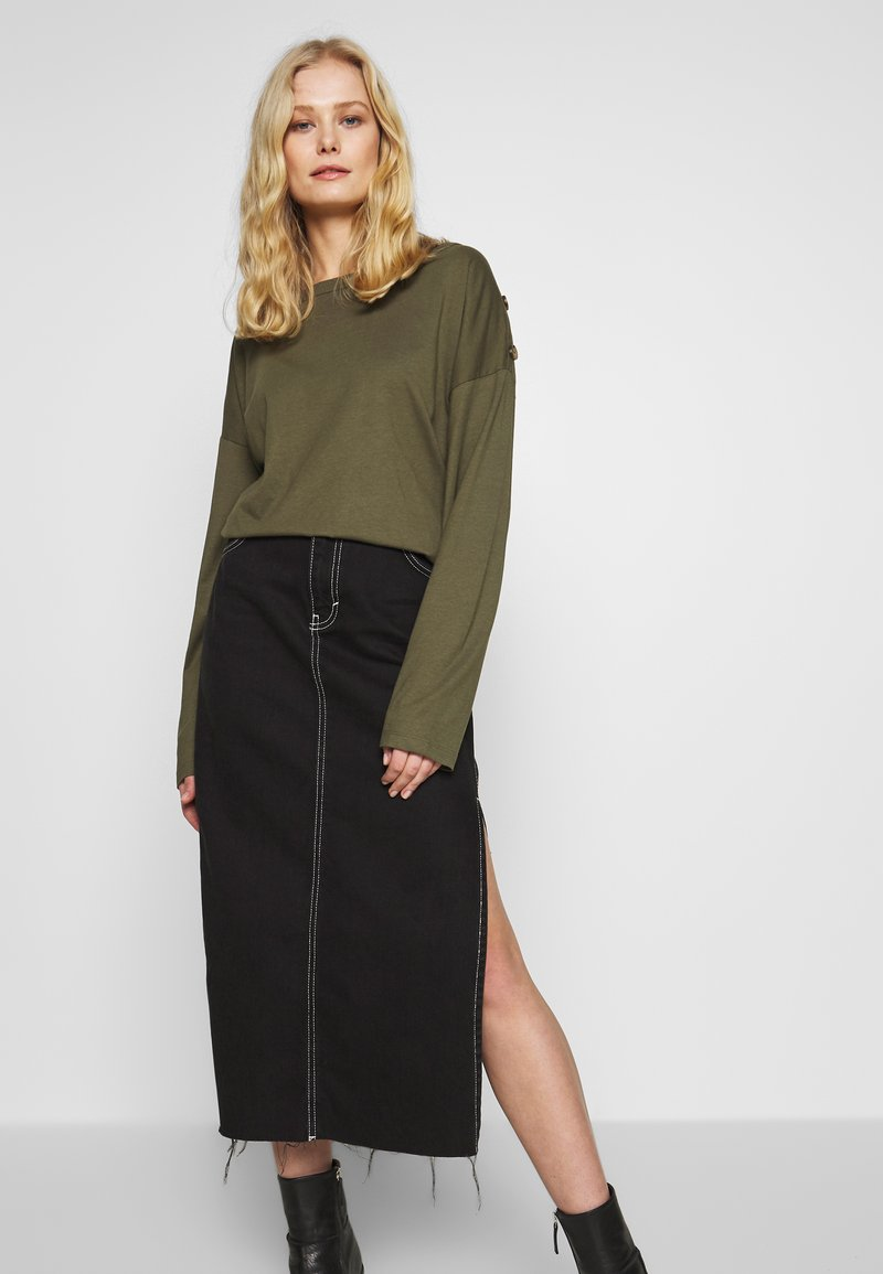 Anna Field - DROP SHOULDER LONG SLEEVES - Top s dlouhým rukávem - olive night