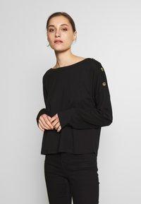 Anna Field - DROP SHOULDER LONG SLEEVES - Bluzka z długim rękawem - black - 0