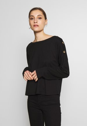 DROP SHOULDER LONG SLEEVES - Top s dlouhým rukávem - black