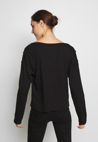 Anna Field - DROP SHOULDER LONG SLEEVES - Bluzka z długim rękawem - black - 2