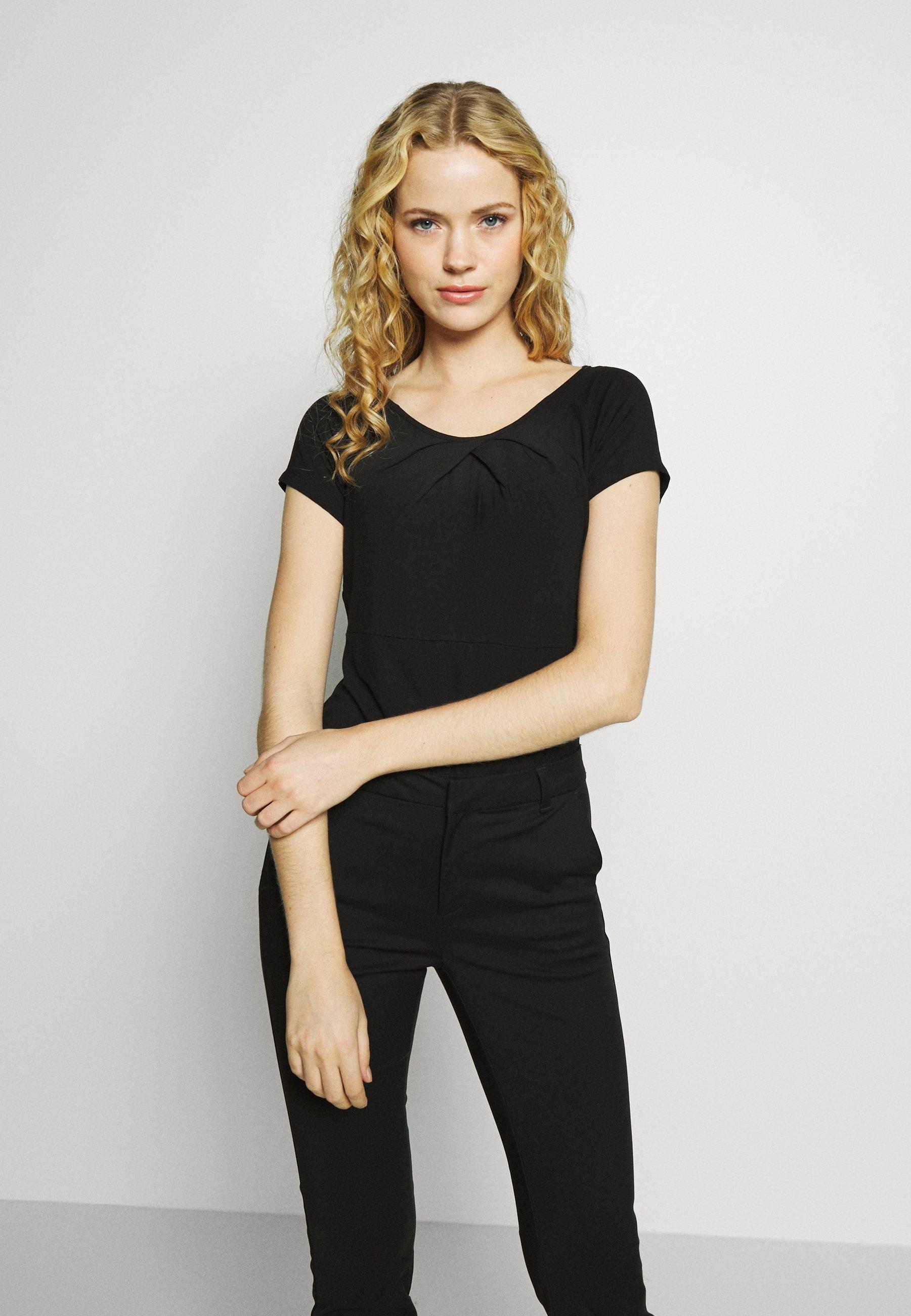 Anna Field T-shirts med print - black