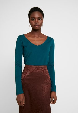BASIC - Long sleeved top - deep teal