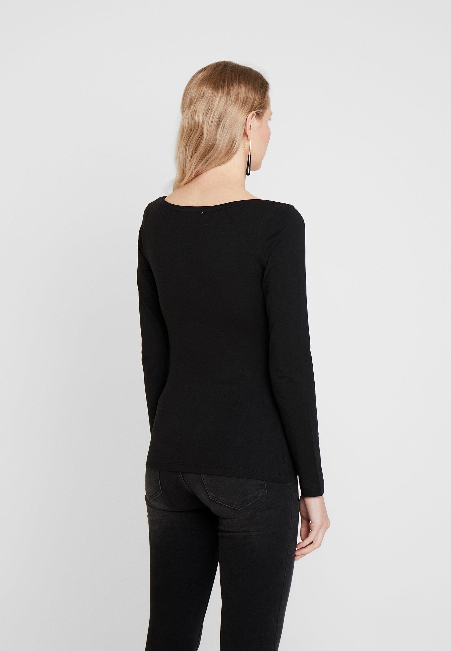 Anna Field BASIC - Bluzka z długim rękawem - black