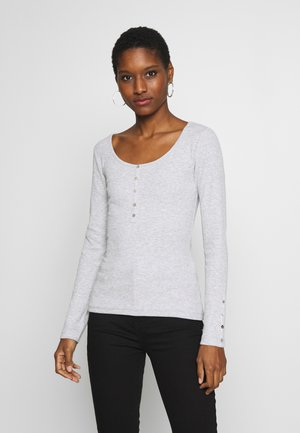 Long sleeved top - mottled light grey