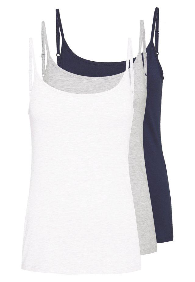 3 PACK - Toppi - white/navy/light grey