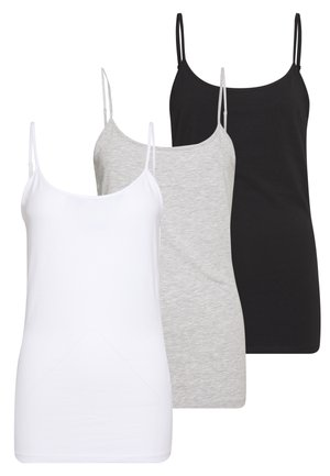 3 PACK - Débardeur - black/white