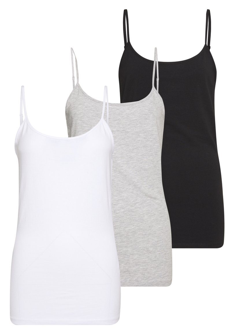 Anna Field - 3 PACK - Toppe - black/white