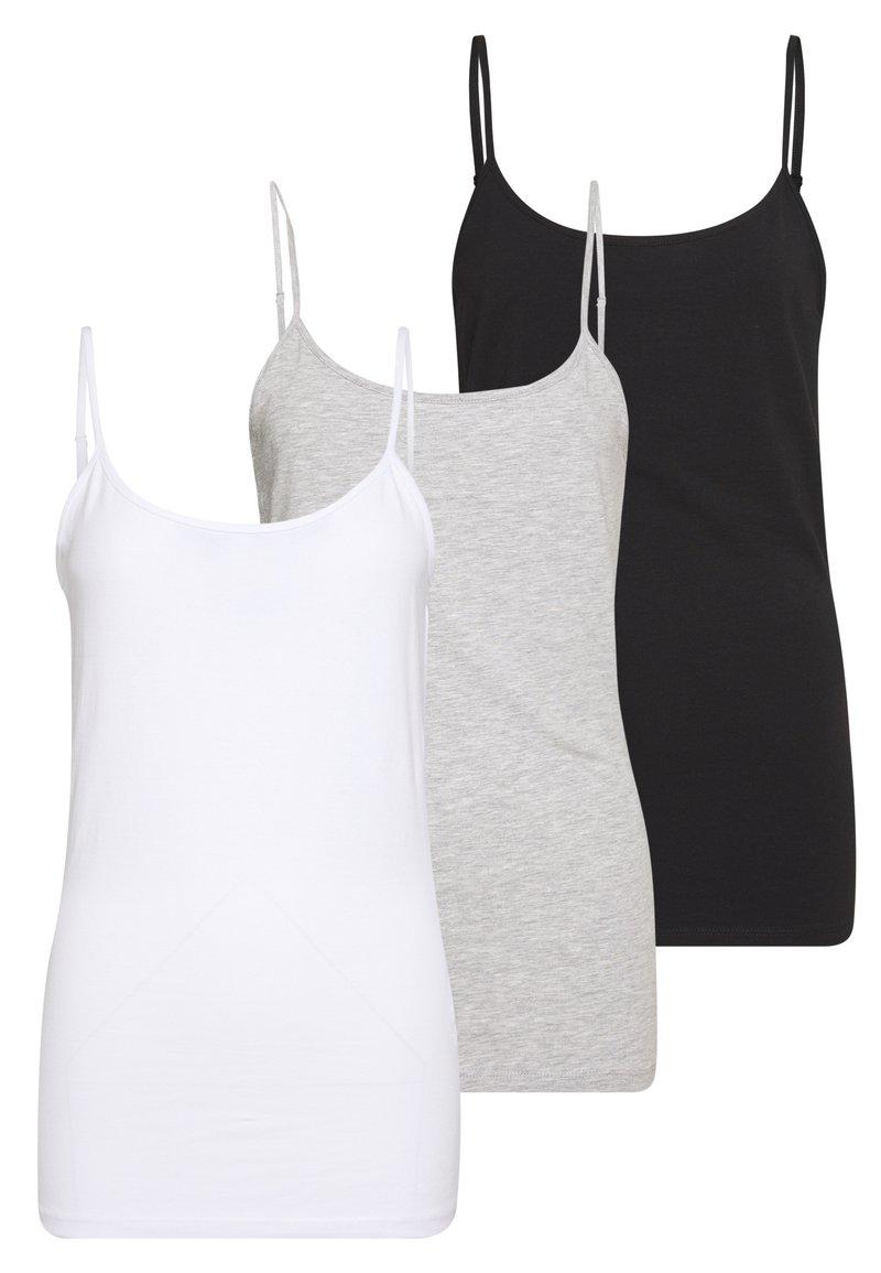 Anna Field - 3 PACK - Top - black/white