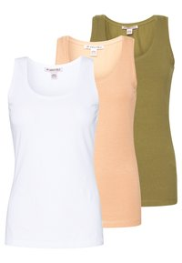 Anna Field - 3 PACK - Topper - white/camel/martini olive - 0
