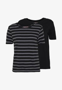 Anna Field - 2 PACK - T-shirt z nadrukiem - black/multicoloured - 4