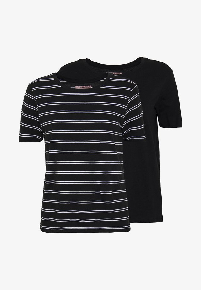 2 PACK - T-shirt print - black/multicoloured