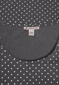 Anna Field - T-shirts med print - mottled grey/white - 2