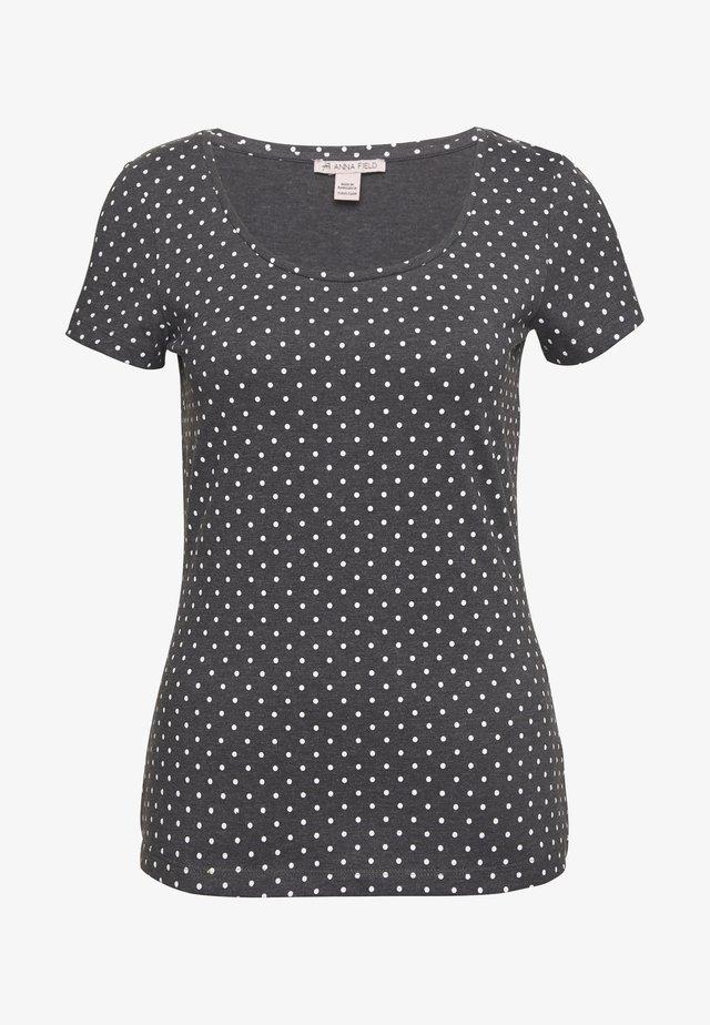 T-Shirt print - mottled grey/white