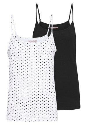 2 PACK - Topper - white/black