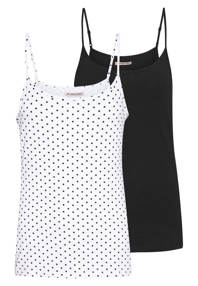 2 PACK - Toppe - white/black