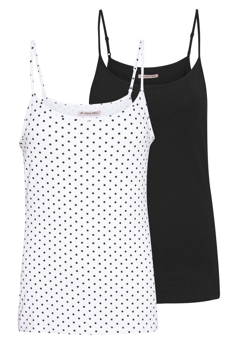 Anna Field - 2 PACK - Topper - white/black
