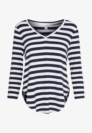 Maglietta a manica lunga - white/marititime blue
