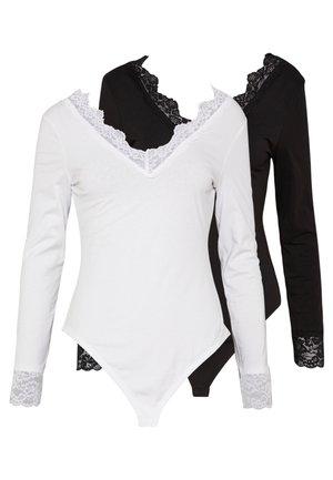 2 Pack - T-shirt à manches longues - white/ black