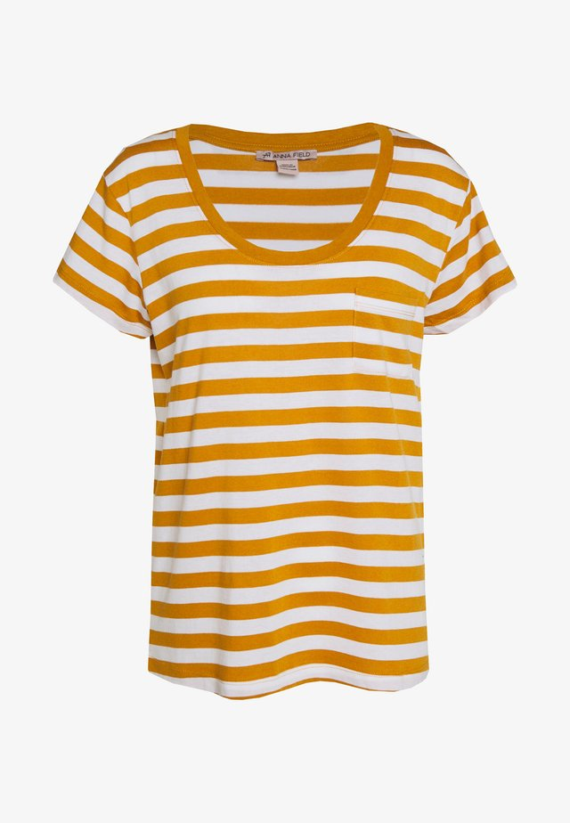 Printtipaita - white/yellow