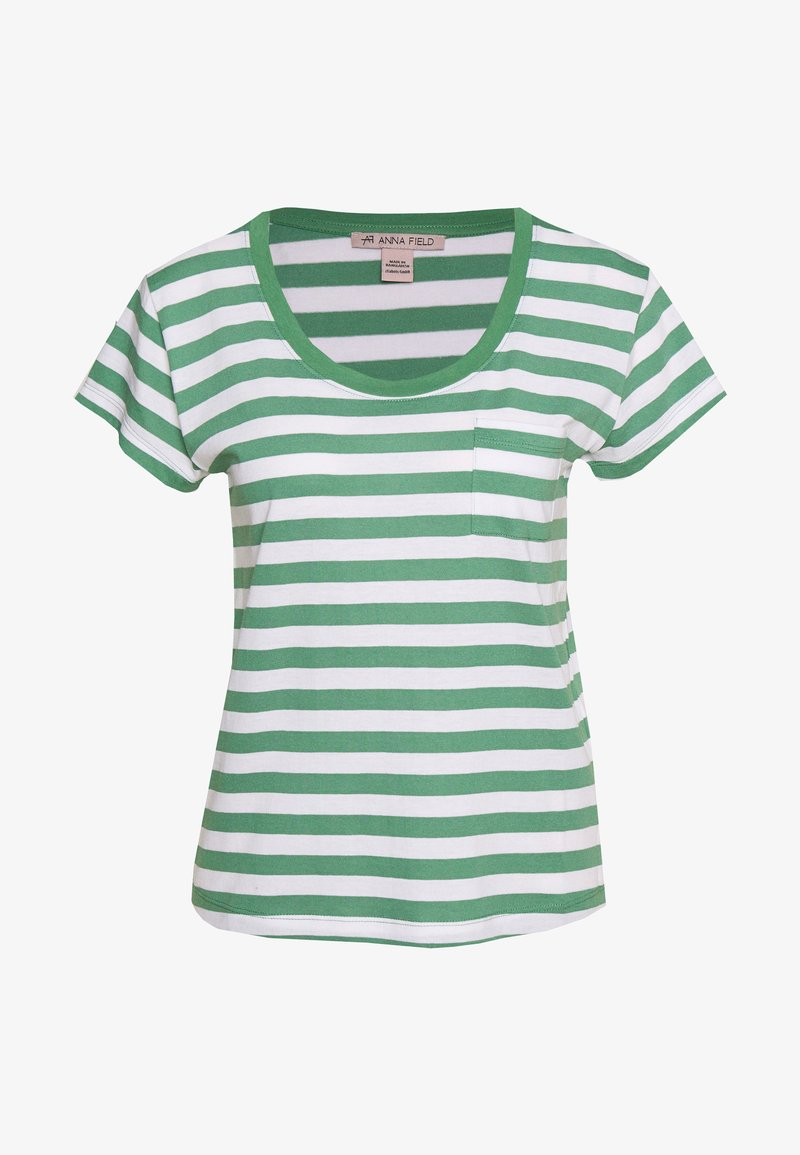 Anna Field - T-shirts med print - white/green