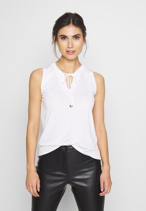 CREPE DRESSY - Toppe - white